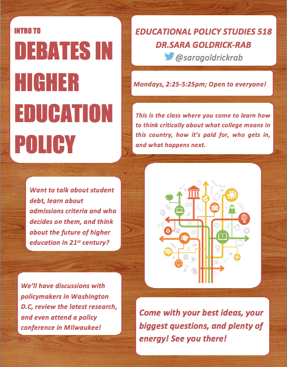 Debates in Higher Education: This Fall at UW-Madison!-0